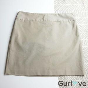 Ann Taylor LOFT Khaki Plain Skirt Size 14